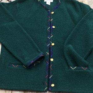 Pendleton 100% virgin wool cardigan sweater